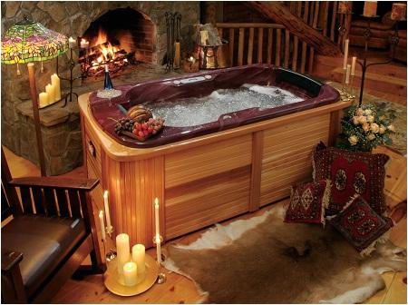 decorate a hot tub
