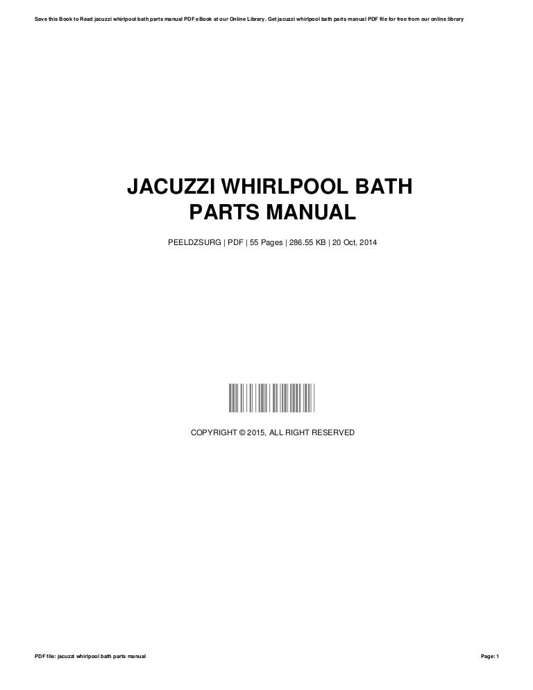 jacuzzi whirlpoolbathpartsmanual