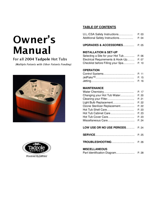 tadpole manual 2004