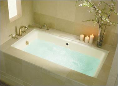 Jacuzzi Bathtub Undermount Kohler Kathryn Bathroom Suite