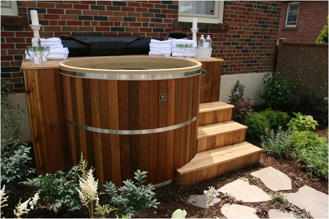 Cedar Hot Tubs in Decks contemporary hot tubs