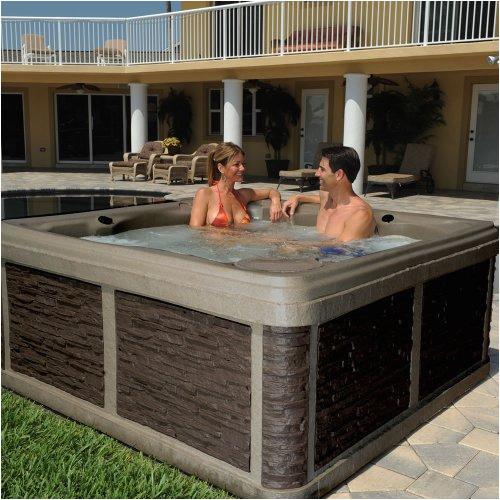 Jacuzzi or Bathtub Lifecast Rocksport Hot Tub Portable Spa 28 Jets & Lounge