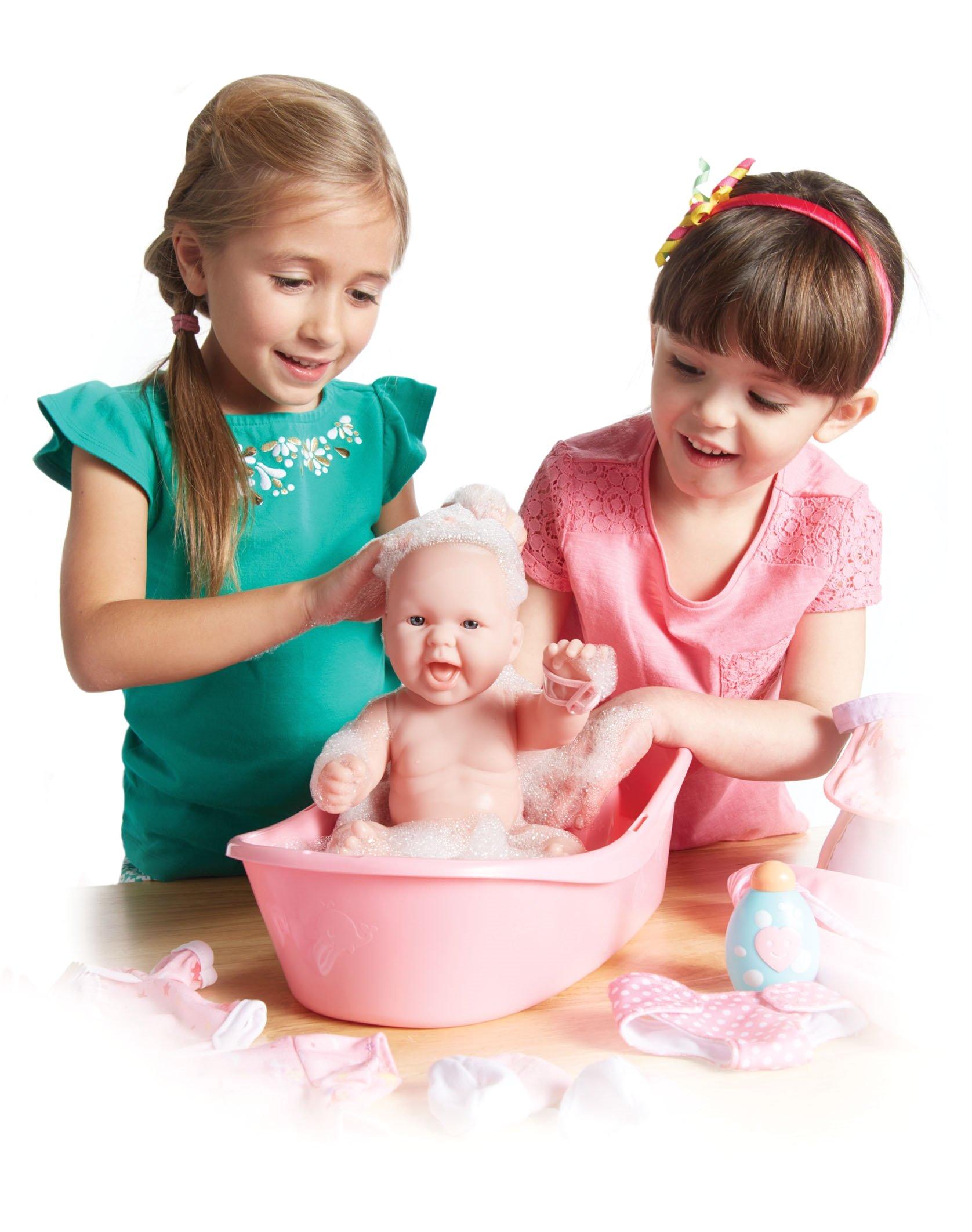 Jc toys Baby Doll Bathtub Jc toys La Newborn Realistic Baby Doll Bathtub Gift Set