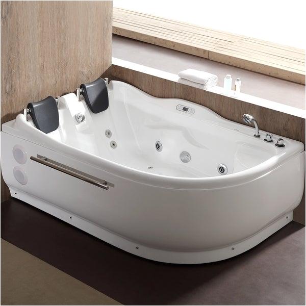 Jetted Bathtub for Two Shop Eago Am124etl R 6 Ft Right Corner Acrylic White