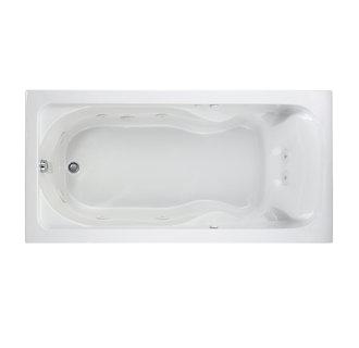 "American Standard 2773 018WC 72"" x 36"" Drop In EverClean Whirlpool Tub White"