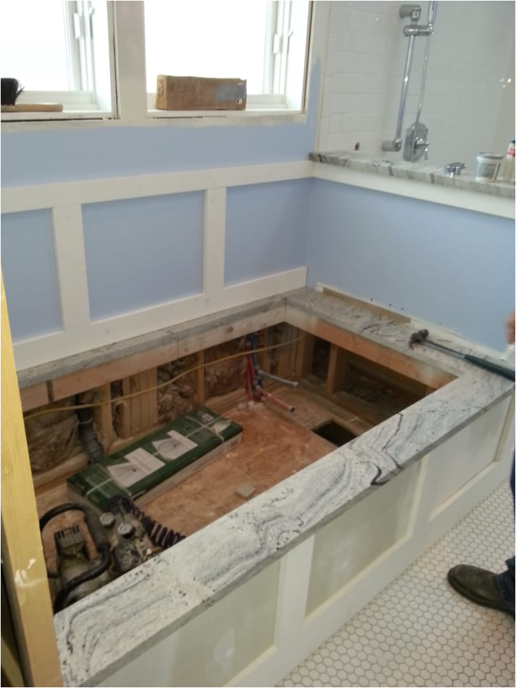 Jetted Bathtubs Near Me Rough In for A Drop In Tub Yelp