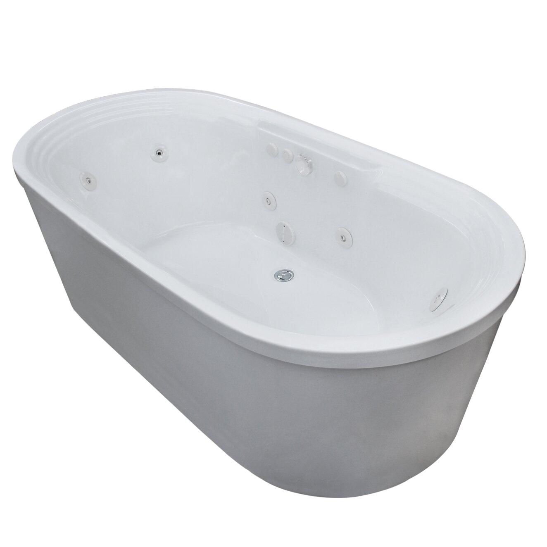 Spa Escapes Royal 67 x 34 Whirlpool Jetted Bathtub WF3467RW XVZ1457