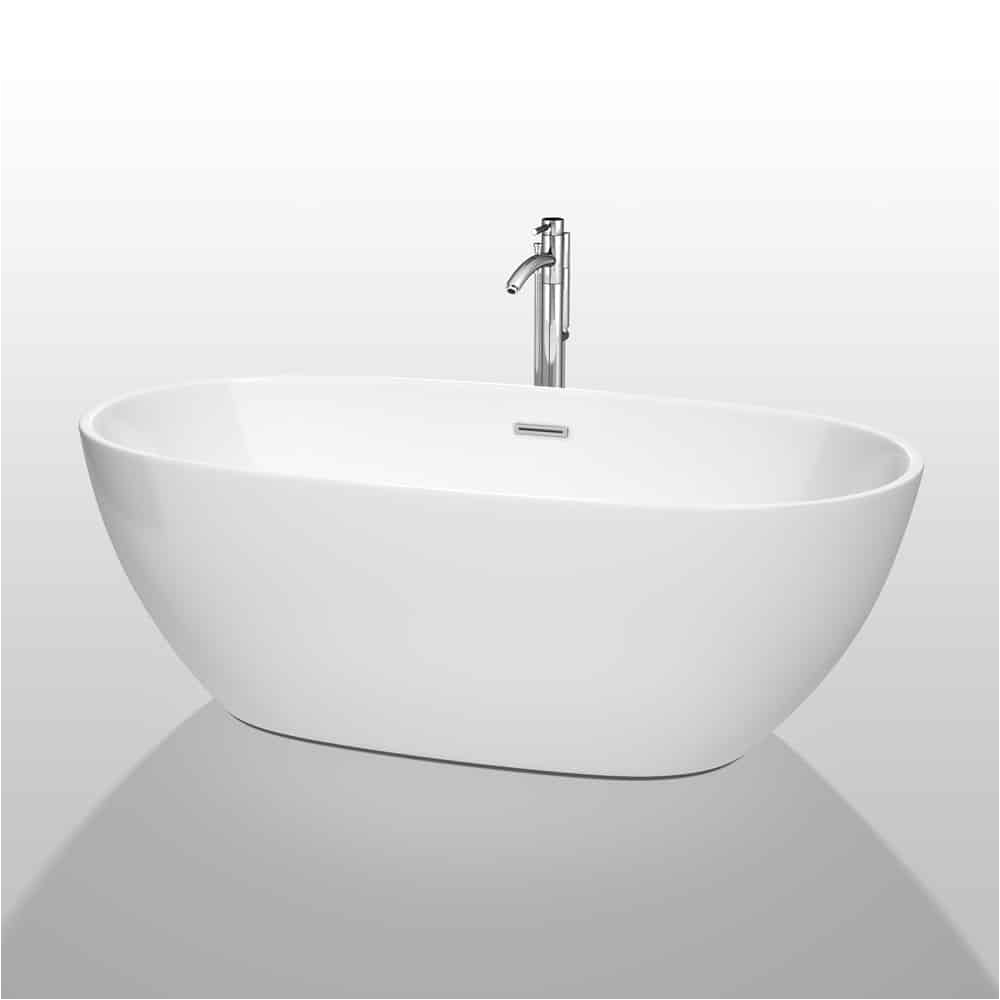 juno 67 soaking bathtub by wyndham collection white