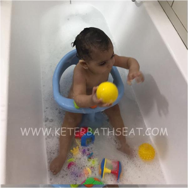 keter baby bathtub seat light blue