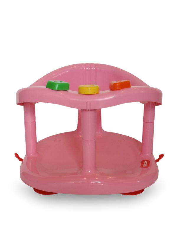keter baby bath seat ring tub pink