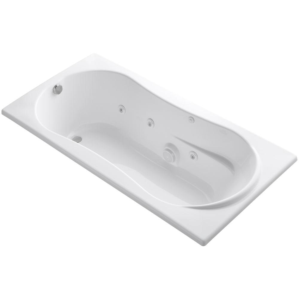 Kohler Bathtubs with Air Jets Kohler 7236 6 Ft Whirlpool Tub with Reversible Drain In