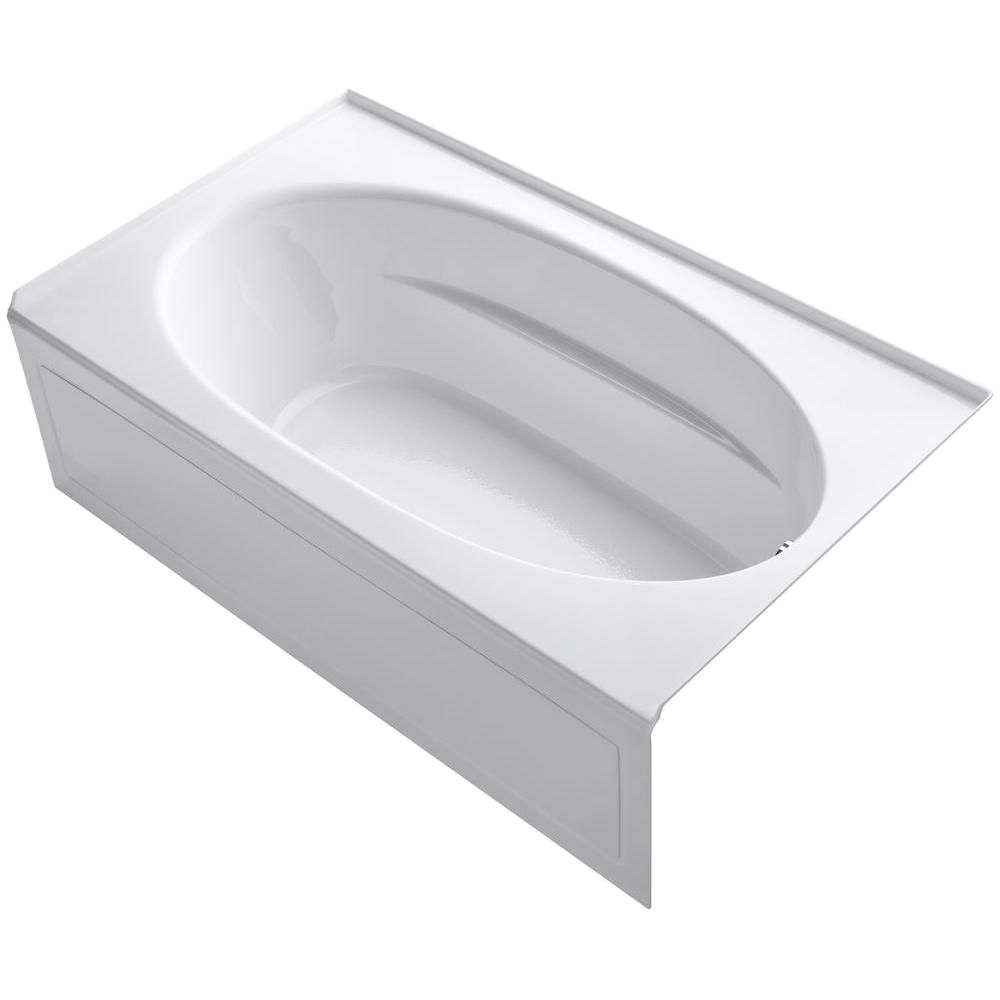 p windward 6 foot bath with integral apron in white