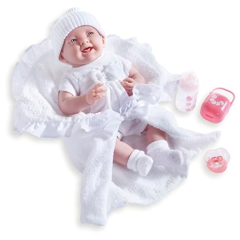 "La Newborn 8 Piece Realistic Baby Doll Bathtub Set Jc toys La Newborn 15 5"" soft Body Baby Doll Gift Set"