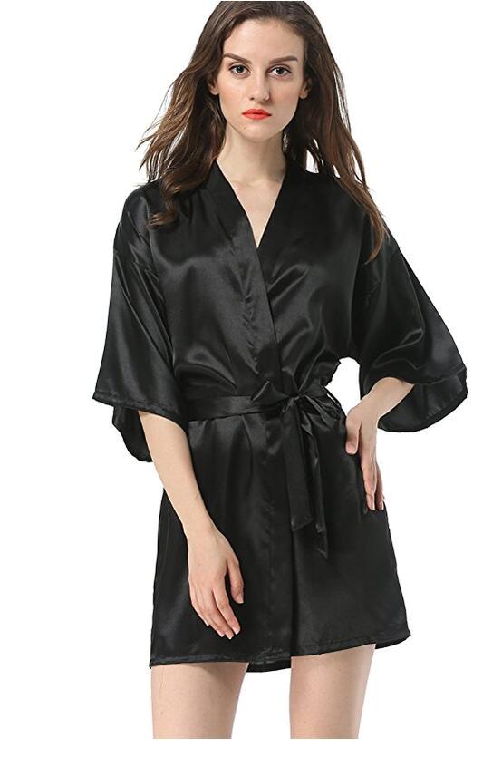 Ladies Bathrobes On Sale New Black Chinese Women S Faux Silk Robe Bath Gown Hot