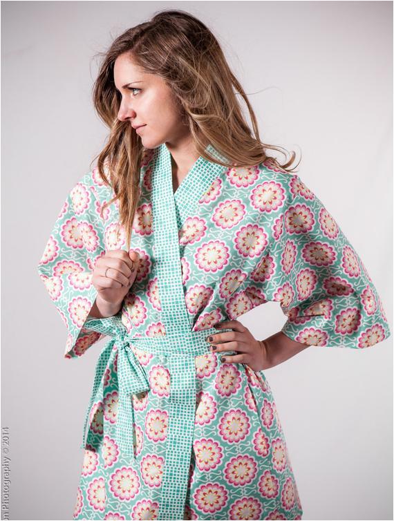 kimono robe womens plus size long cotton