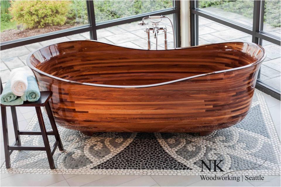 custom bathtubs built maple walnut and oak
