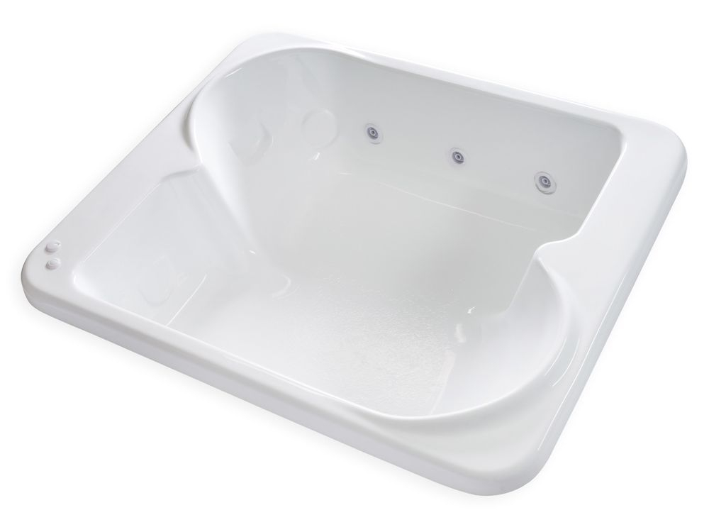 """Large Bathtubs with Jets Carver Tubs Be7260 72"""" X 60"""" 2 Person Extra 6 White"""