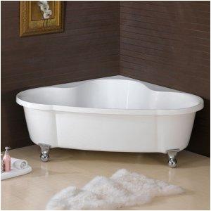 large corner clawfoot bathtub bath