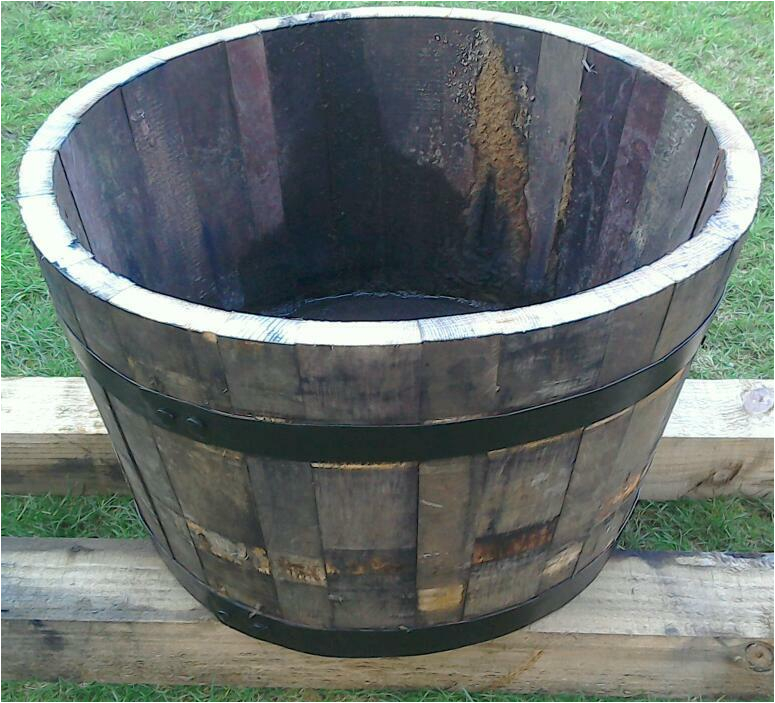 Large Garden Bathtubs Oak Half Whisky Barrel Garden Tub £25