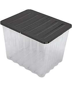 Large Plastic Bathtubs 110l 110 Litre X 2 Extra Plastic Storage Boxes with