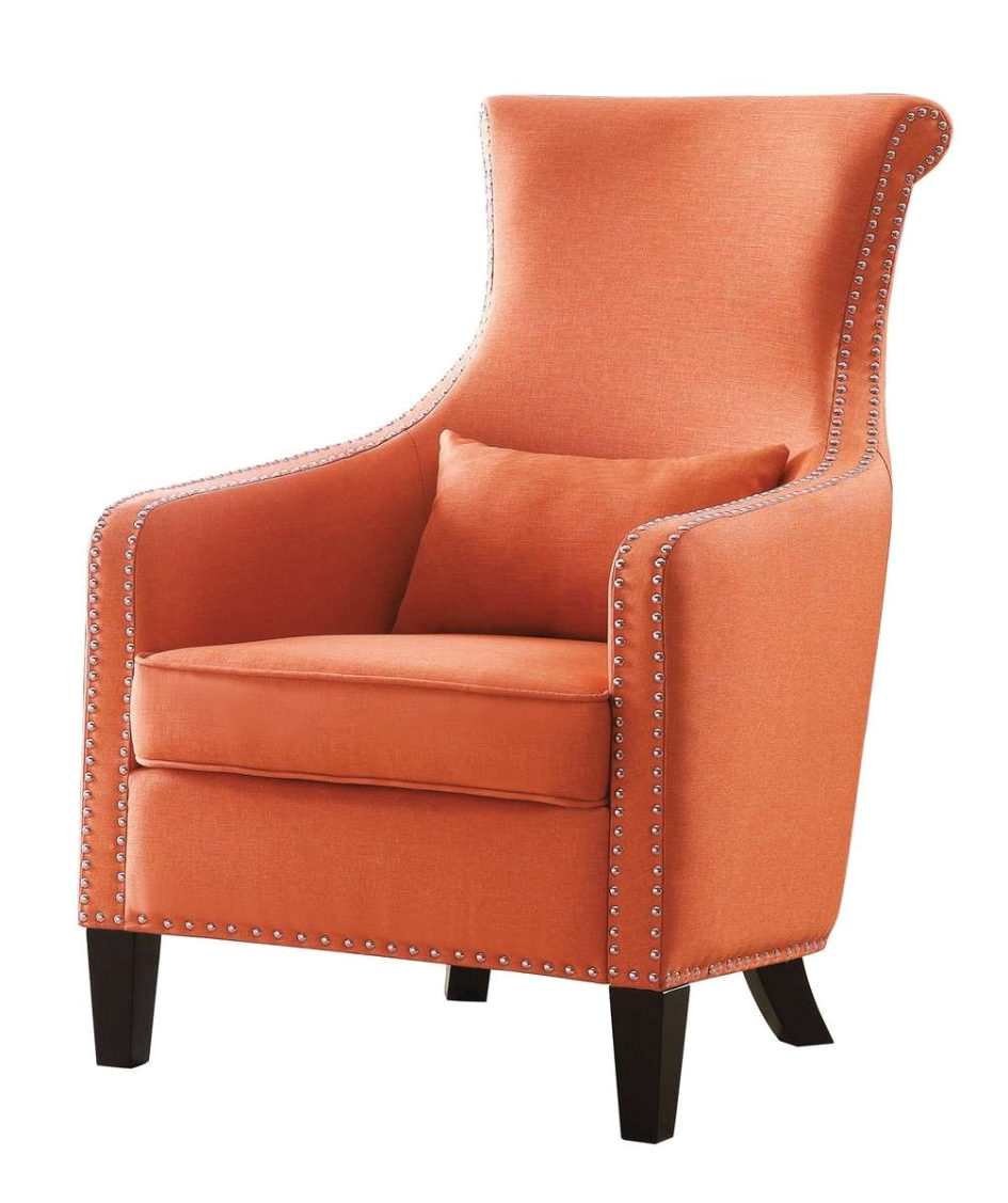 burnt orange accent chair stylish new regarding 1