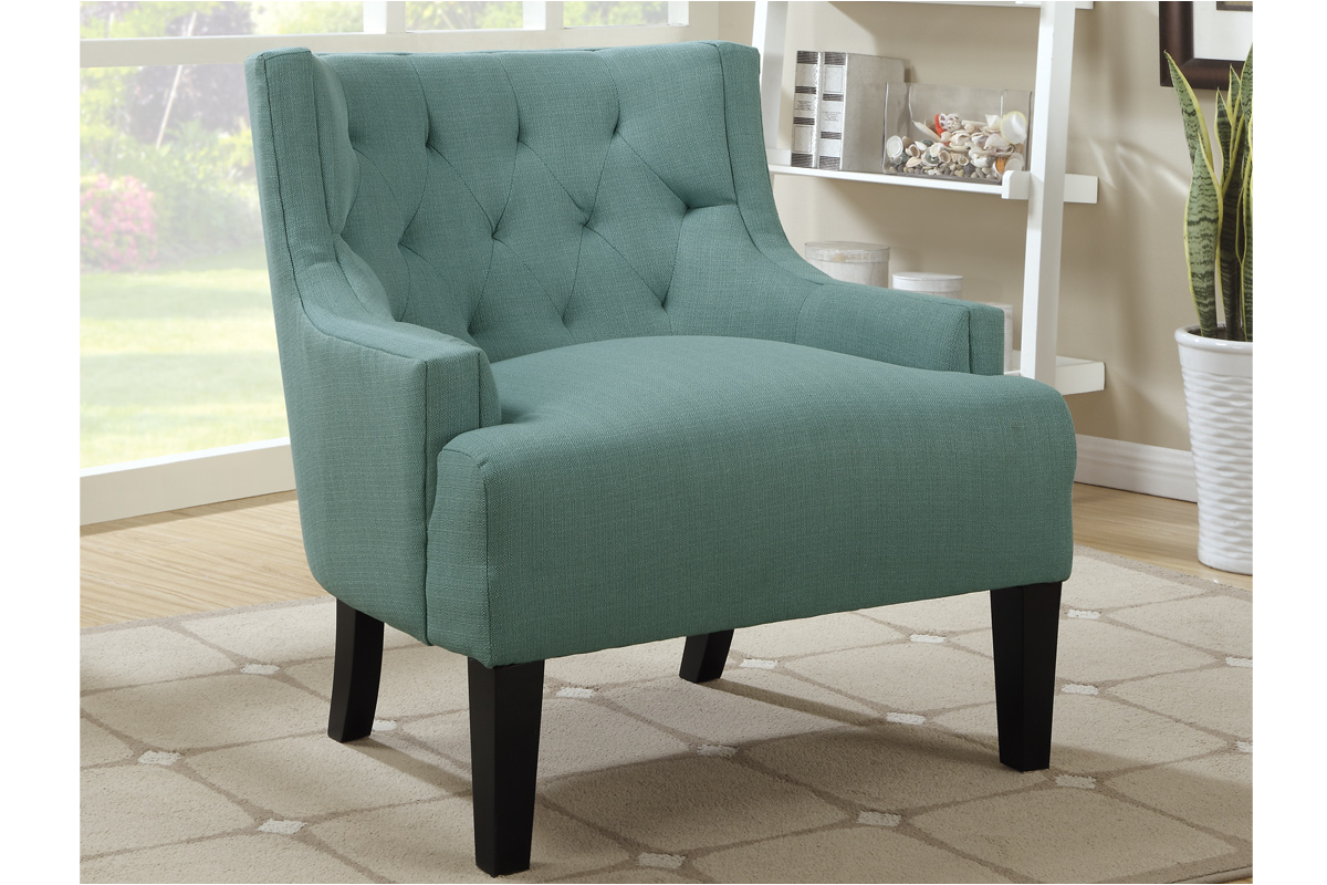 Upholstered Light Blue Accent Chair p 3046