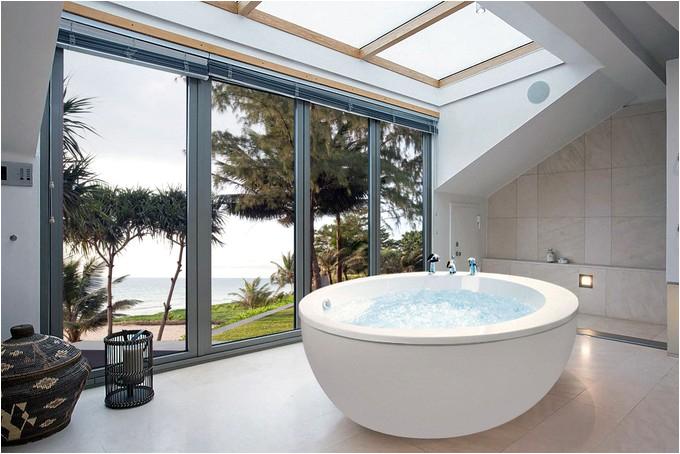 make splash bathroom floor ceiling windows