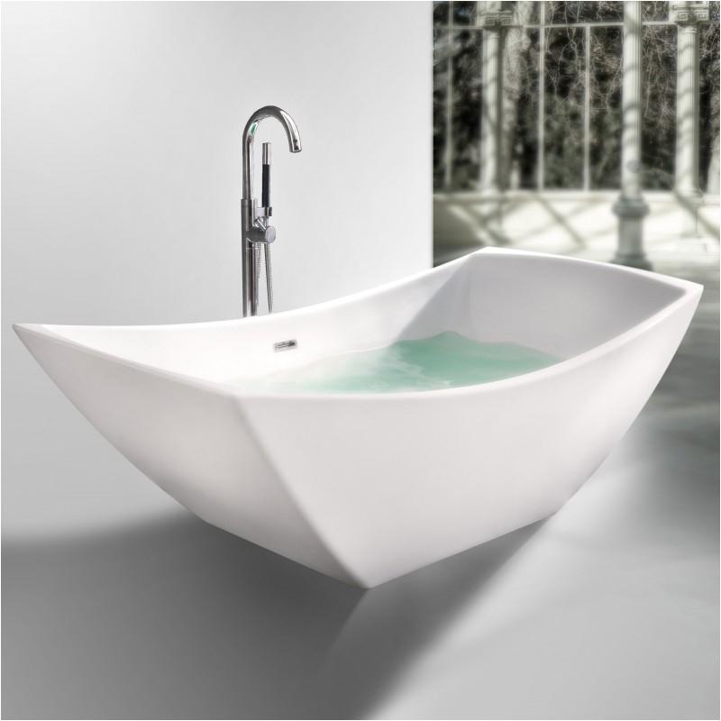"Luxury Bathtubs Canada Viola Freestanding solid Surface Stone 67"" Tub Bathtubs"