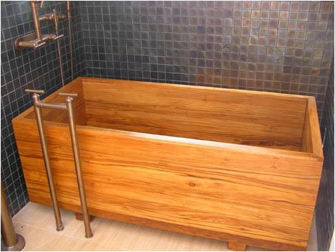 bath in wood