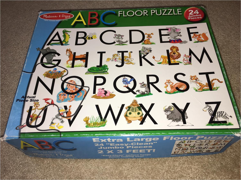gyabd2jp giant melissa and doug abc floor puzzle
