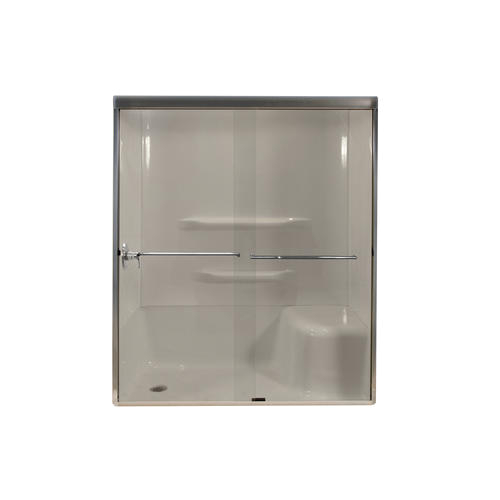 "Menards Bathtub Doors Lyons 60"" W X 72"" H Glass bypass Shower Door at Menards"