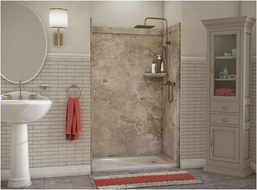 "Menards Bathtub Wall Surrounds Flexstone 48""x36""x78"" Elegance 3 Panel Shower Kit at Menards"