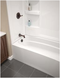 "Menards Bathtub Walls Delta Hycroft 60"" X 30"" White Bathtub Wall Surround at"
