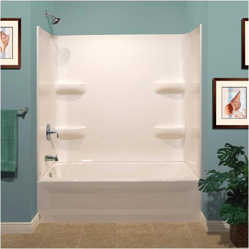 "Menards Bathtub with Surround Lyons Elite™ 60 X 32"" X 19"" Left Hand Drain Bathtub and"