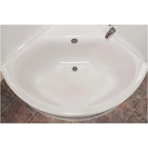 "Menards Corner Bathtubs Lyons Sea Wave™ V 48"" X 48"" X 20"" Center Drain soaking"