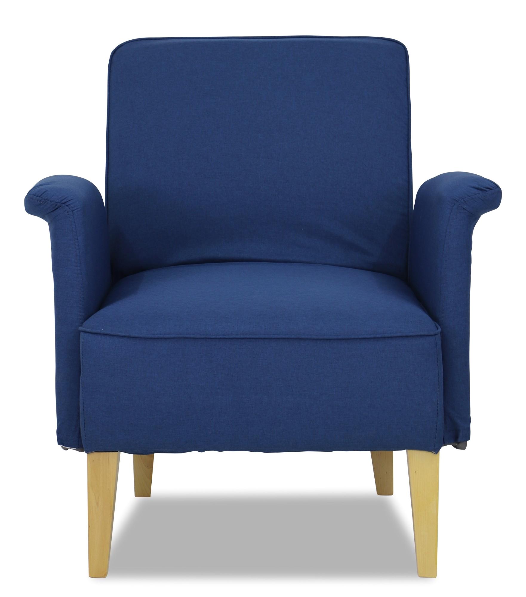 marzena arm chair in midnight blue