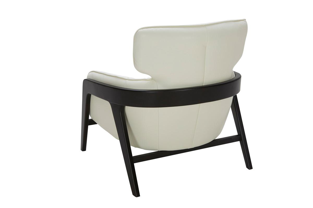 divani casa beaufort modern white leather accent chair