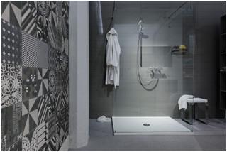 Modern shower contemporary bathroom montreal