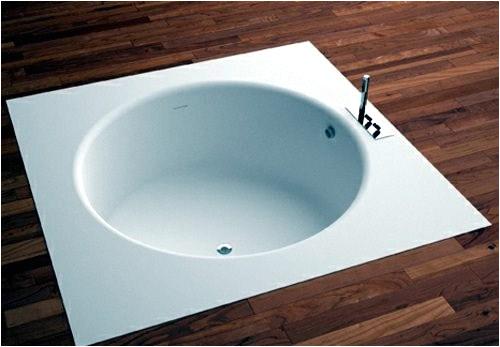 modern built in bath tub with space saving design