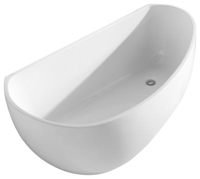 Deslin Modern Acrylic Freestanding Soaking Tub White 67 modern bathtubs