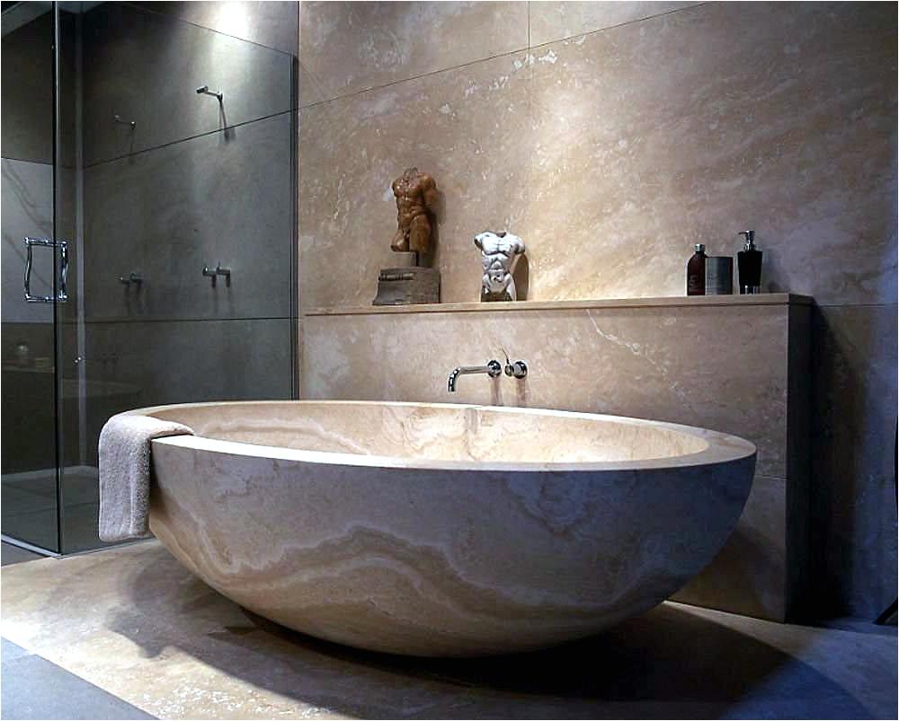 Modern soaking Bathtubs Modern Bathtubs Made Of Wood and Stone