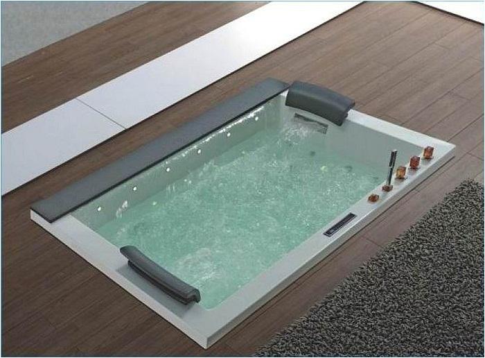 modern design square jacuzzi tub