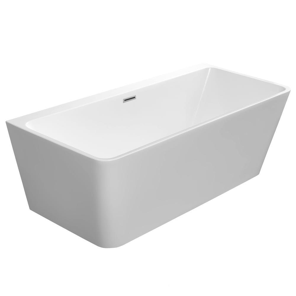 orion btw modern square free standing bath 1700 x 780mm