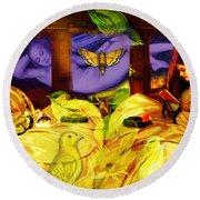 Mosley Portable Bathtub solar Fantasy Gold Framed Print by Joseph Mosley