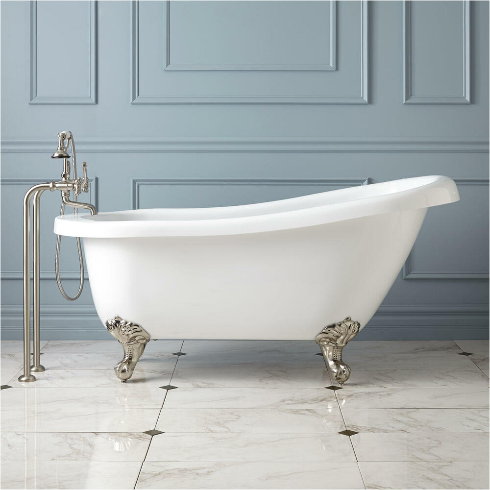 "Old Bathtubs for Sale Ebay 61"" Hattie Acrylic Slipper Clawfoot Tub Oil Rubbed Bronze"