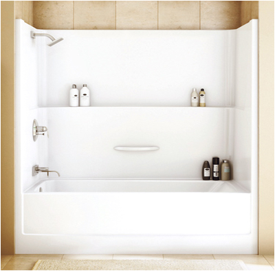 1 piece bathtub and surround