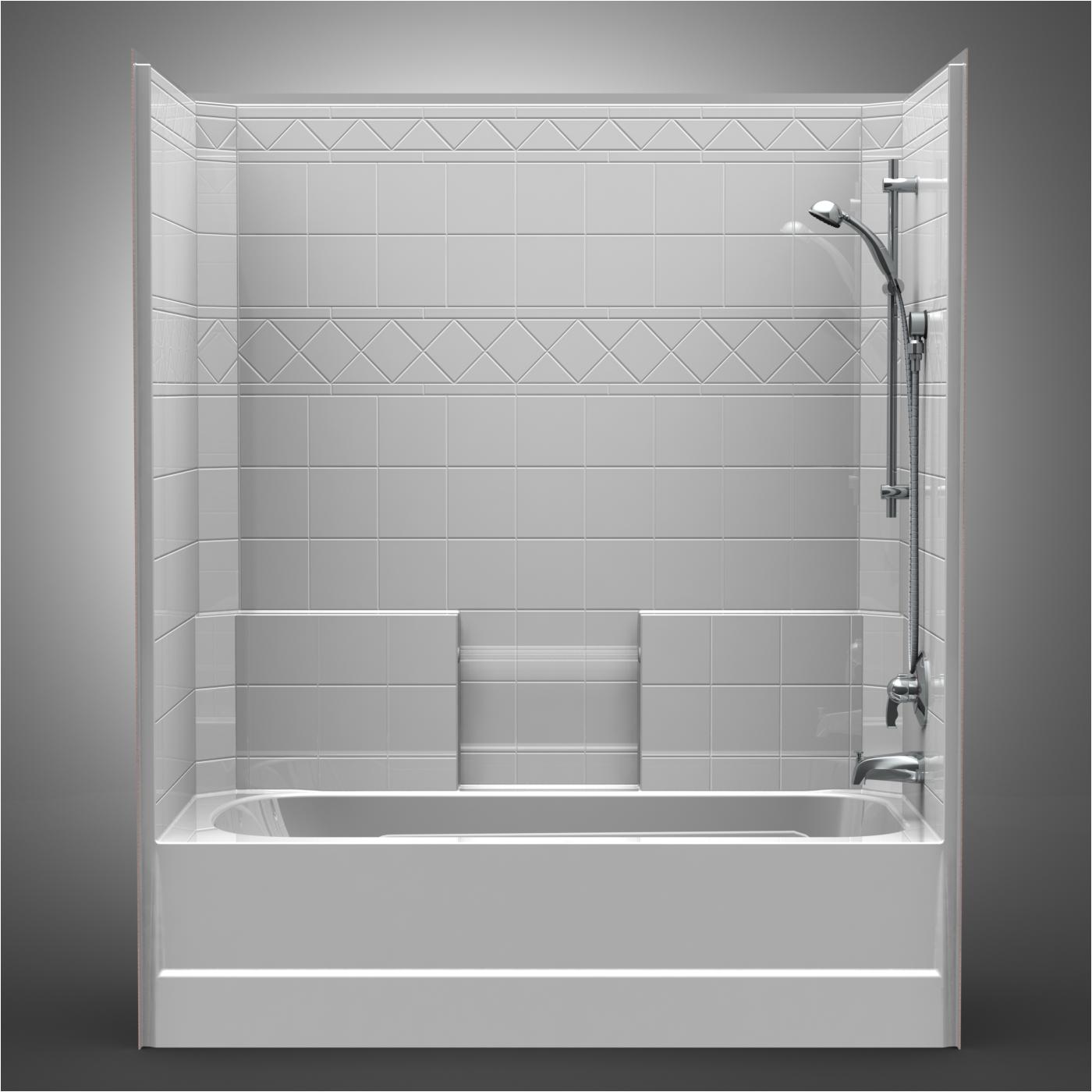 One Piece Bathtub Surround Unit Shower