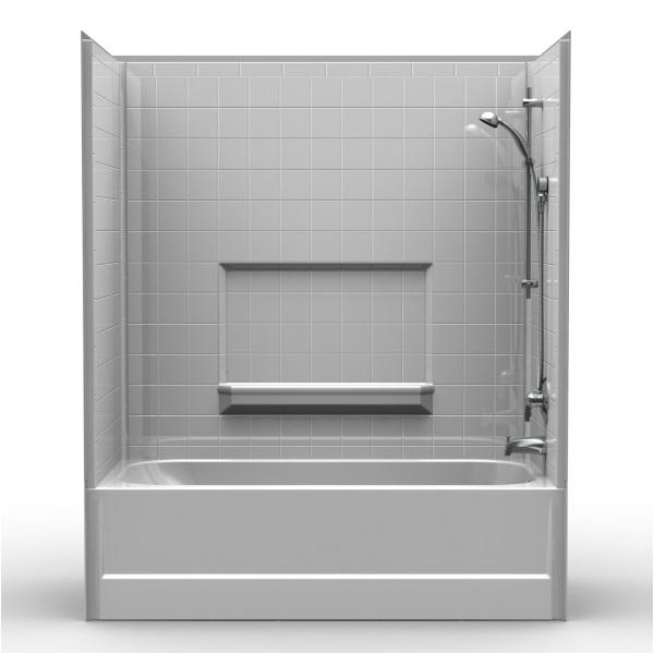 2038 60x30 one piece tub with wall surround kit