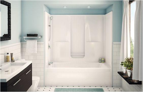 One Piece Bathtub with Walls Aker Sbw 3672 E Piece Gelcoated Fiberglass Tub Shower