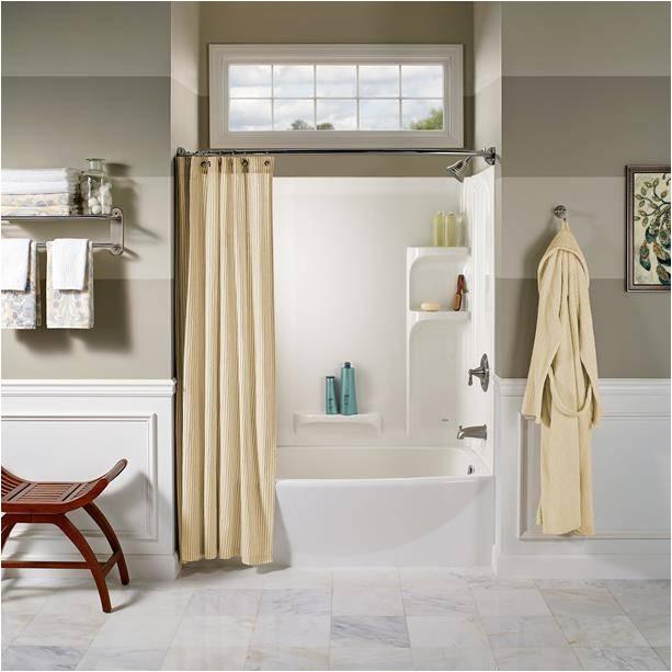 ovation curved 3 piece bathtub wall set